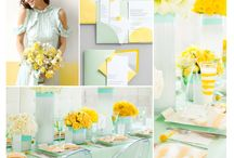 Mint & Yellow wedding