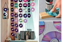 Recycled old cds and videotapes