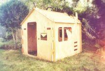1domek zewnątrz / 1domek zrealizowany w ogrodzie