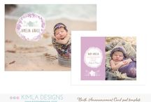 Photoshop Cards and Birth Announcements Templates / Photoshop Card and Birth Announcements Templates