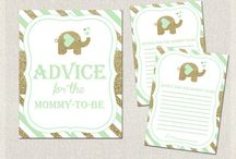 Baby Shower ADVICE FOR MOMMY printable cards / Baby Shower ADVICE FOR MOMMY printable cards