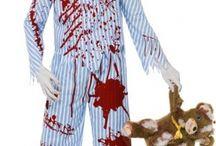 Disfraz zombie y vampira