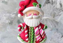 Porcelana en Frio Navidad
