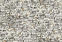 EJERCICIO DE ESTILO - David Chayle / Combinación elegida por el interiorista y arquitecto David Chayle a partir de nuestra selección de 10 espacios, 10 colores de pintura y 10 modelos de papel pintado distintos.