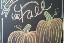 Fall-chalk art/decor