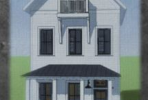 Drawing Board: The Chestnut-original CitySpace model / Historic style rafter tails, brackets, transoms, balcony and a large front porch with tin roof, detail the front facade of the Chestnut, an original CitySpace model.