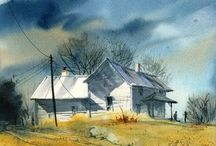 Akvarel VI / krajiny