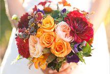 Bright coloured weddings