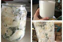 Adrienne's decoupage items :) / Decorative items