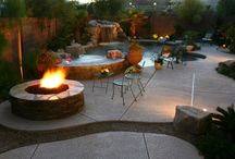 Pools and Spas with Fire / Pools and spas with fire: firebowls, firepits, hearths and more... / by Paragon Pools