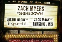 Tour with Zach Myers, Justin Moore and Zack Mack! December – February