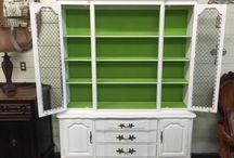 China Cabinets and Hutches - PAINTED / Inspiration for your painted china cabinet.