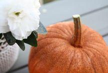 Dýně, Pumpkin / Jak si ozdobit dýni? Stačí trocha lepidla, štěteček a glitry. Natřeme stopku a kousek dýně lepidlem a posypeme zlato-oranžovými glitry. Přebytek glitrů vysypeme na papír, nebo krabičky. Hotovo.