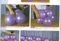 Decoracion globos paso a paso
