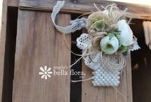 Wedding Theme :: Burlap, Cream, Twine & Sparkle / This color combination focuses on texture, shape & finish...very elegant! / by Angela's Bella Flora, Inc.