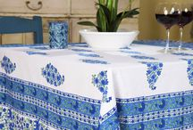 Blue Tablecloths / Blue Tablecloths - Linen Tablecloths - Fabric Tablecloth