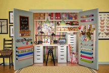 Craft Room Inspiration / Inspiration for how to set up and organize your craft room. A look at how other people have done it and some original ideas for storage or display.