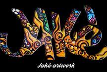 MyWorks - Jakè artwork / Réalisation du site web responsive de l'artiste Jakè : http://jakeartwork.com/