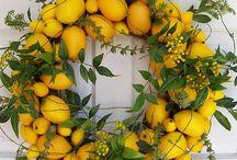 Paulina Leszczyńska / dekoracja w kolorach żółci