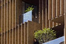 wooden facade