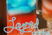 Drinks layered