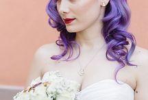purple hair bride