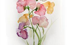 Watercolor, Brush pen