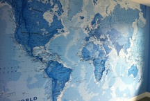 World Map Murals / A collection of cool world map murals
