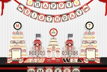 Entertaining - Race Car Party / Ideas for a red, black, silver, and white  5-year-old's race care birthday party.