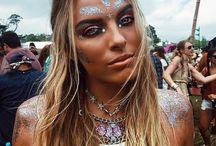 maquiagem de carnaval com brilho