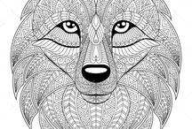 animal ilustration_black and white