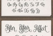 font calligraphy