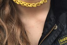 Crochet cord accessories / Get inventive with our Cord! It's perfect for crocheting. Below, we have hand-knotted Waxed Cord and Round Cord to create beautiful necklaces and hair accessories in a few of our many colour shades. As stylish for teenage girls as they are for ladies. Wear your handmade cord accessories or gift them to friends and family.