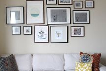 Gallery Wall / Inspiration board for your gallery wall or collage wall home decor project. Have your walls tell your story!