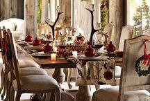 Table settings christmas