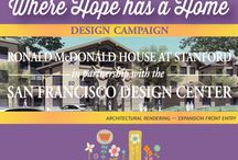 Where Hope has a Home - San Francisco Design Center Partnership / Ronald McDonald House at Stanford and the San Francisco Design Center announce a groundbreaking partnership in support of the House's expansion and renovation project.  Where Hope has a Home brings together more than 60 local designers who are graciously donating their time and considerable expertise to create inviting and functional spaces in the House's new 52,000-square-foot building extension, which is currently under construction.