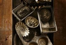 Vintage pastry molds and kitchen tools / Vintage kitchen tools