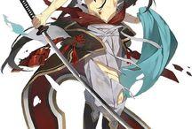 аниме парни с мечами