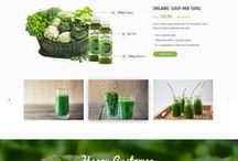 healthy lifestyle webdesign