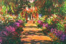 Claude Monet  / Растворение предметных форм в изощренных сочетаниях цветовых пятен