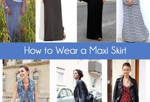 How to wear maxi skirt or dress
