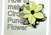 circle punch flowers
