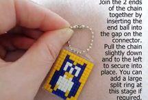 Pixelhobby / Pixel art mini mosaic keyring kits, magnet kits and accessories.
