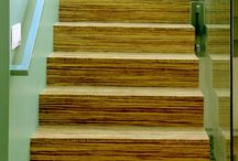Bamboo Staircases - Escaliers en Bambou / Some or our nicest staircases projects made out of bamboo plyboards PLYBOO.  Projets d'escaliers et de marches fabriqués à partir de panneaux de bambou PLYBOO
