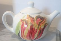 Hand painted ceramics / Hand painted ceramics by the artists of QArt Studio