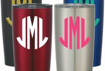 Monogram Designs / Monogrammed Favorite Stainless Steel Tumbles.That Keep Your Hot Drink Hot Or Your Cold Drink Cold For Several Hours.