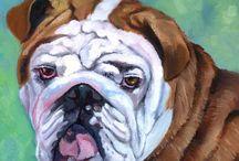 Bulldog Art by Lyn Hamer Cook / My art of the Bulldog.