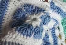 crotchet blue blanket