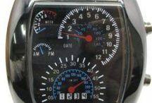 LED Watch Digital Speedometer - Hitam