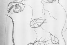 Dibujitos para futuras impresiones / Bocetos y dibujos para estampar en textil....